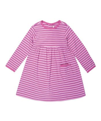 Pink Stripe A-Line Dress - Infant, Toddler & Girls