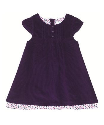 Mulberry Corduroy Cap-Sleeve Dress - Infant, Toddler & Girls