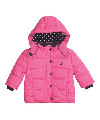 Fuchsia Puffer Coat - Infant, Toddler & Girls