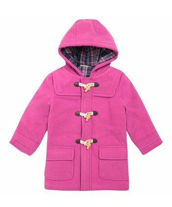 Fuchsia Toggle Coat - Infant, Toddler & Girls