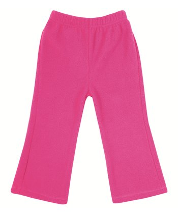 Raspberry Polar Fleece Bootcut Pants - Infant, Toddler & Girls