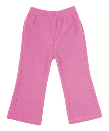 Fuchsia Polar Fleece Bootcut Pants - Infant, Toddler & Girls