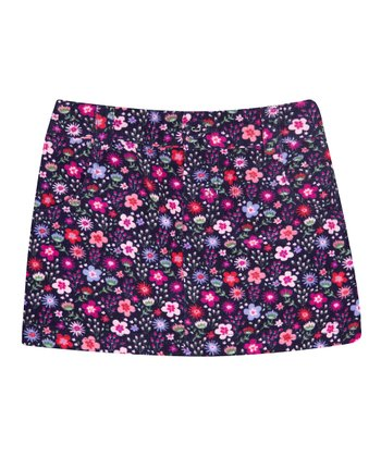 Navy Ditsy Floral Skirt - Infant, Toddler & Girls