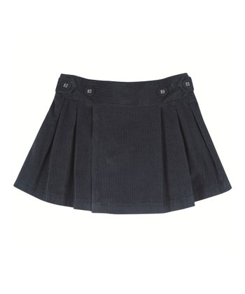 Navy Corduroy Pleated Skirt - Infant, Toddler & Girls