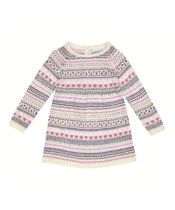 Natural Fair Isle Sweater Dress - Infant, Toddler & Girls