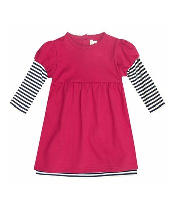 Cerise Layered A-Line Dress - Infant, Toddler & Girls