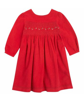 Berry Corduroy Smocked Dress - Infant, Toddler & Girls