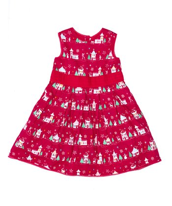 Red Winter Day Party A-Line Dress - Infant, Toddler & Girls
