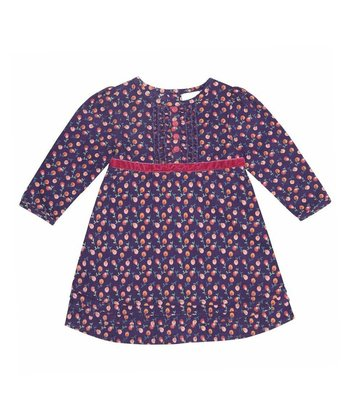 Purple Floral Ruffle Dress - Infant, Toddler & Girls