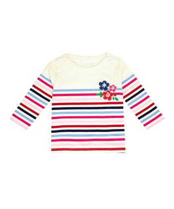 Cream Stripe Breton Top - Infant, Toddler & Girls