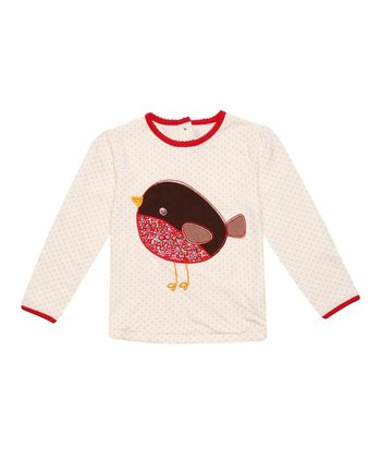Cream Robin Tee - Infant, Toddler & Girls