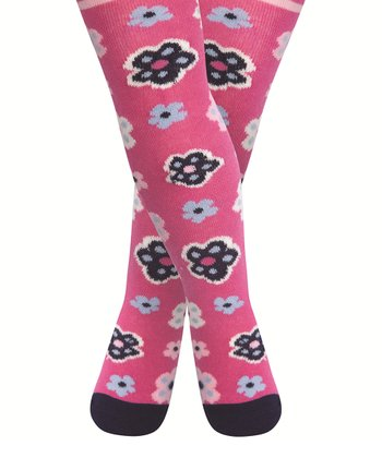 Fuchsia Flower Tights - Infant & Toddler