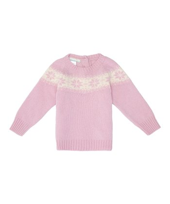 Pink Fair Isle Wool-Blend Sweater - Infant, Toddler & Girls