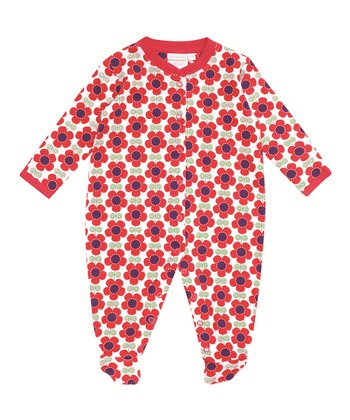 Red Poppy Footie - Infant