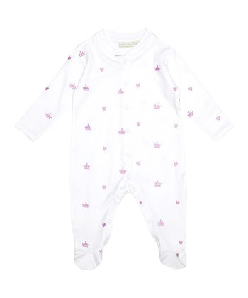 Pink Crown Footie - Infant