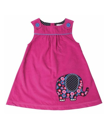 Raspberry Elephant Jumper - Infant, Toddler & Girls