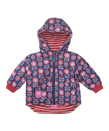 Blue Floral Reversible Jacket - Infant, Toddler & Girls