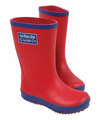 Red Wellie Rain Boot
