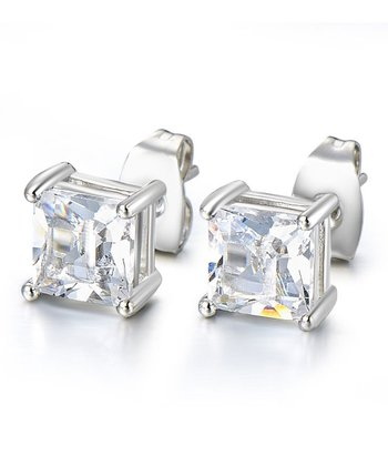 Square-Cut Stud Earrings made with SWAROVSKI ELEMENTS