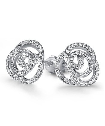 Flower Swirl Earrings made with SWAROVSKI ELEMENTS