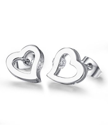 Cubic Zirconia Little Sweetheart Earrings