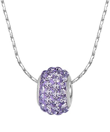 Violet Crystal Meridian Necklace