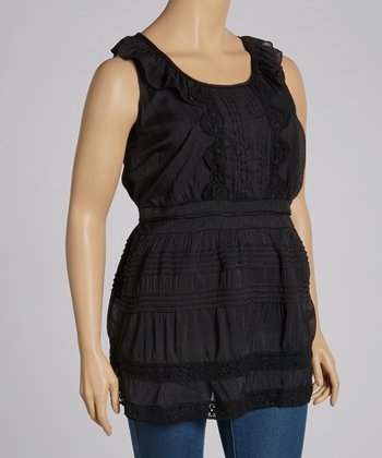 Black Lace Tank - Plus