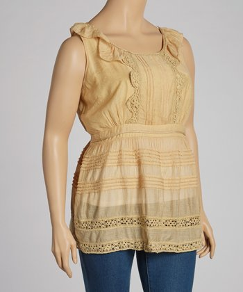 Gold Lace Tank - Plus