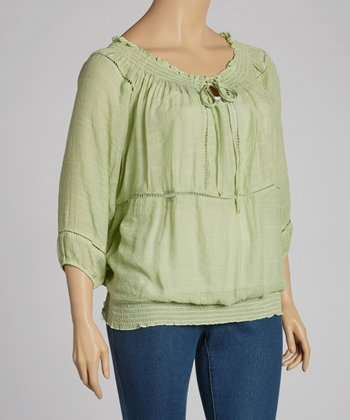Sage Peasant Tunic - Plus