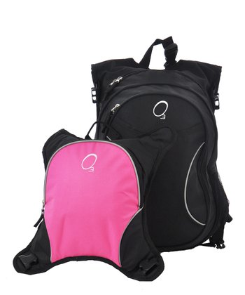 Black & Pink Innsbruck Diaper Bag Backpack & Cooler Set