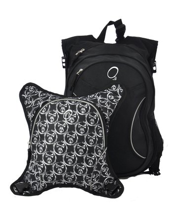 Black & White Skulls Innsbruck Diaper Bag Backpack & Cooler Set