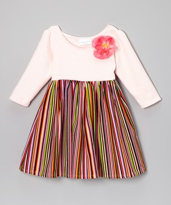 Pink Stripe Dress - Toddler & Girls