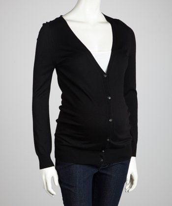 Jet Black Maternity Cardigan