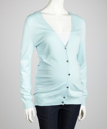 Ice Blue Maternity Cardigan