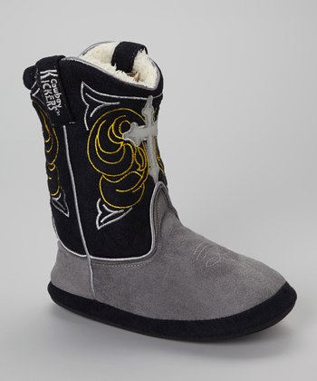 Gray Cross Tall Cowboy Boot