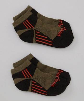Green & Red Stripe Low Rider Socks Set