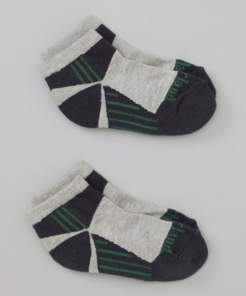 Navy & Green Stripe Low Rider Socks Set