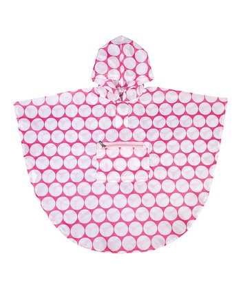 Pink & White Big Dot Poncho