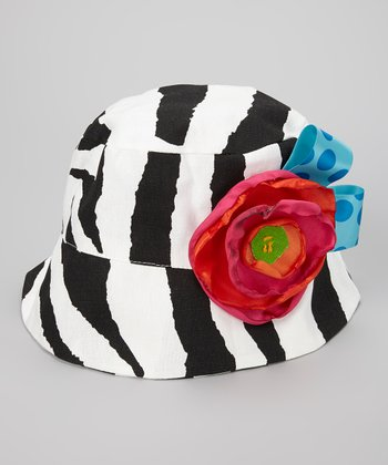 Black & White Zebra Emmy Nicole Bucket Hat