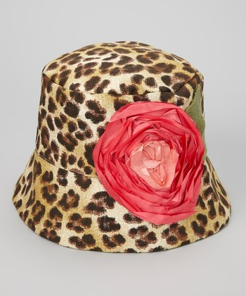 Brown & Tan Leopard Gabrielle Bucket Hat