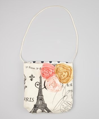 Ivory & Black 'Paris' Postmark Purse