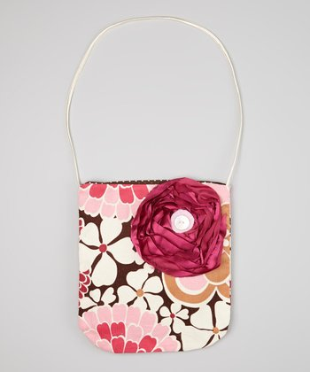 Pink & Brown Floral Hanna Purse