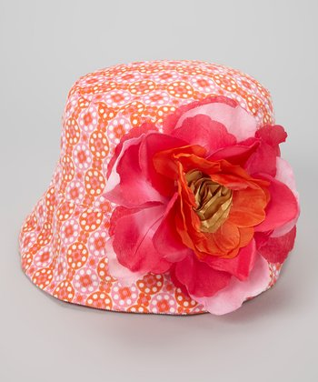 Pink & Orange Delilah Bucket Hat