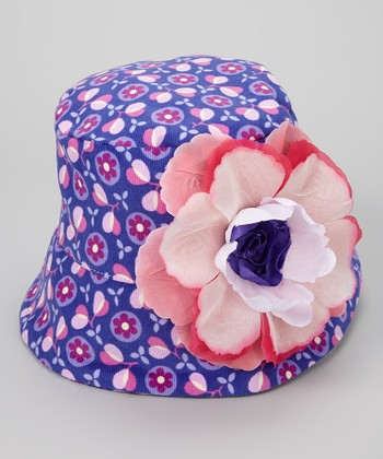 Purple & Pink Floral Jules Bucket Hat