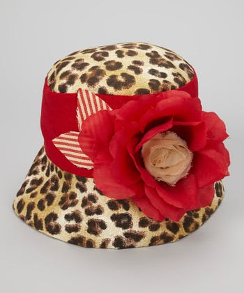 Brown & Black Leopard Martha Bucket Hat