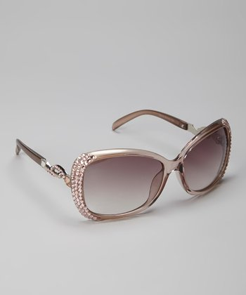 Champagne Holly Bling Sunglasses