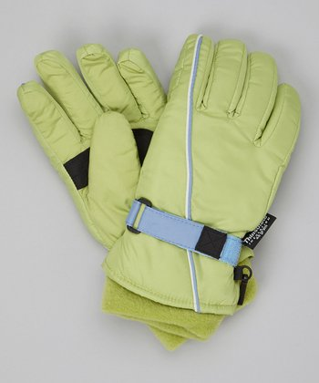 Fern Stripe Ski Gloves