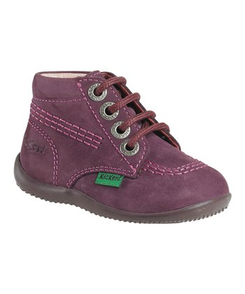 Dark Purple Billy Suede Sneaker - Kids