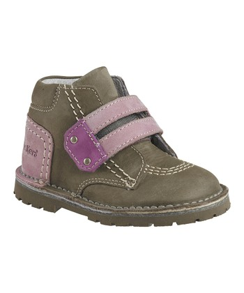 Khaki Lizard Ankle Boot - Kids