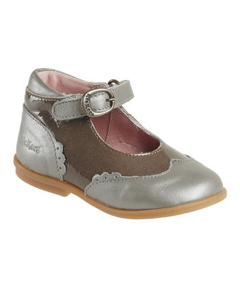 Gray & Beige Swalika Ankle-Strap Shoe - Kids